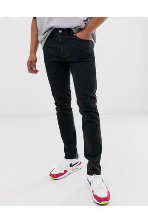 Weekday – Friday – Svarta slim jeans