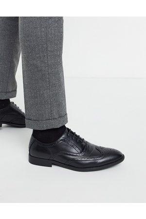 ASOS – Svarta brogueskor i läderimitation