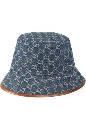 Gucci Man Hattar - GG Supreme fiskehatt med läderkant