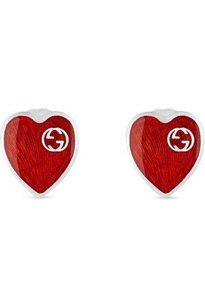 Gucci Man Örhängen - Hjärtformade örhängen med logotyp