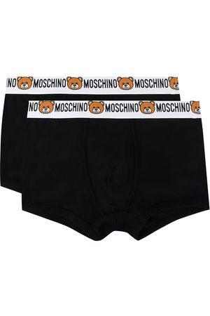 Moschino Man Kalsonger - Teddy tvåpack boxerkalsonger med logotyp