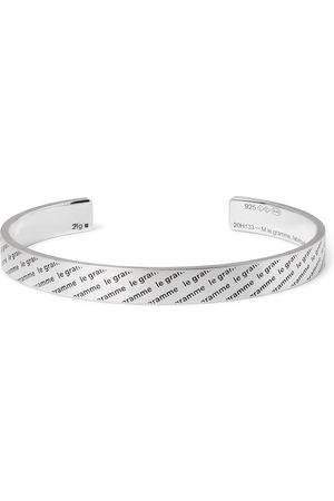 Le Gramme Man Armband - Le 21 Logo-Engraved Brushed Sterling Cuff