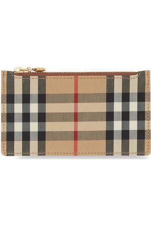 Burberry Vintage Check leather cardholder
