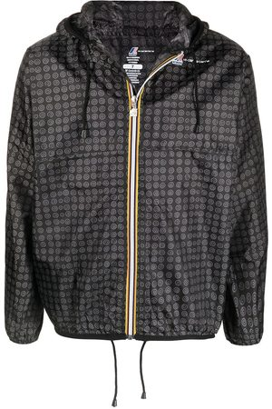 10 CORSO COMO Graphic-print hooded raincoat