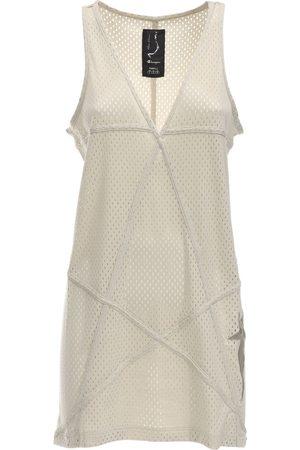 Rick Owens Champion V Neck Jersey Mesh Tunic Dress