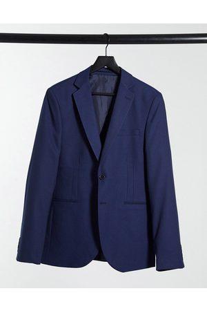 Bolongaro – Marinblå enfärgad kavaj med extra smal passform, del av kostym