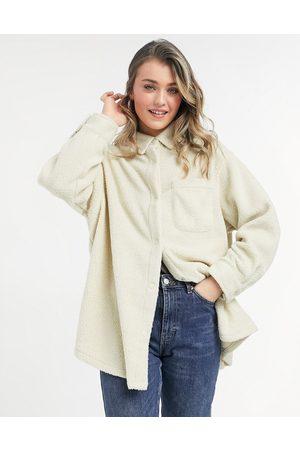 ASOS Naturvit skjortjacka i fleece