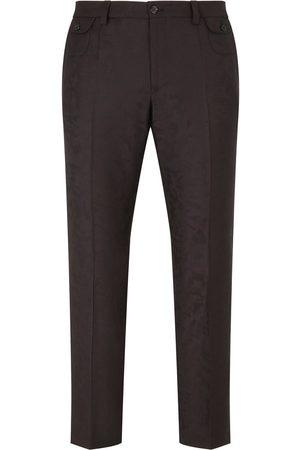 Dolce & Gabbana Jacquard-pattern cropped trousers