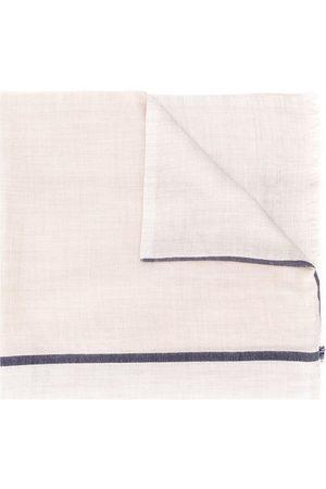 Brunello Cucinelli Man Sjalar - Sjal med kontrastrand