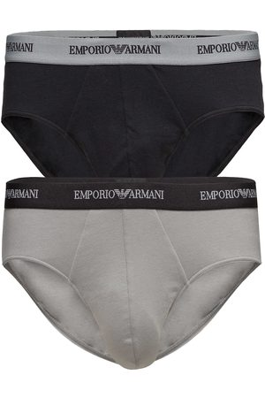 Emporio Armani Mens Knit 2pack Brie Kalsonger Y-front Briefs Multi/mönstrad