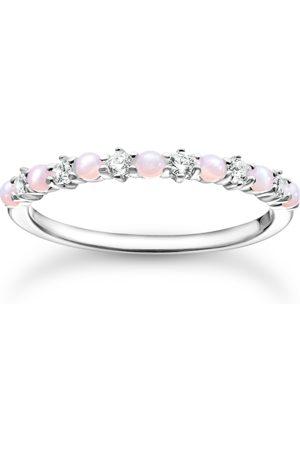Thomas Sabo Ring rosa och vit stenar