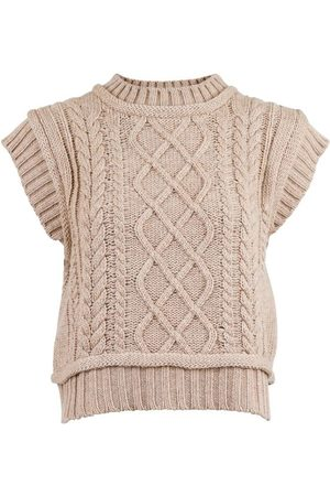 Neo Noir Malley Cable Knit Waistcoat Tops
