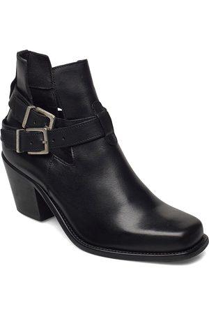 Bianco Kvinna Ankelboots - Biacedar Open Leather Boot Shoes Boots Ankle Boots Ankle Boot - Heel