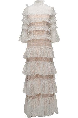 By Malina Carmine Maxi Dress Maxiklänning Festklänning Creme