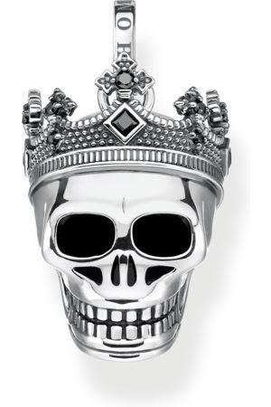 Thomas Sabo Halsband - Hängsmycke dödskalle krona