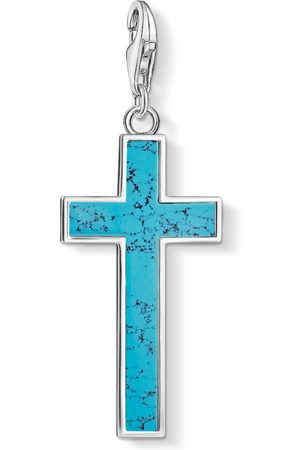 Thomas Sabo Charm-hängsmycke turkos kors