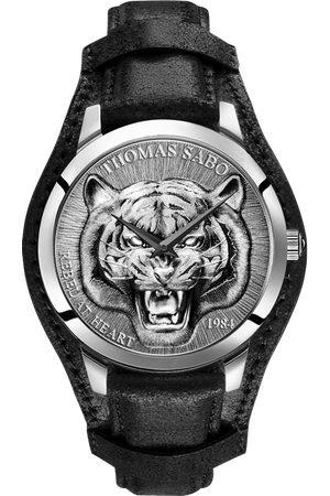 Thomas Sabo Man Klockor - Herrklocka Rebel Tiger 3D svart-silver