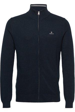Gant Man Stickade tröjor - Cotton Pique Zip Cardigan Stickad Tröja Cardigan