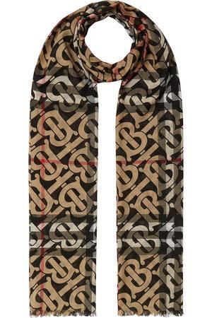 Burberry Rutig sjal med monogram