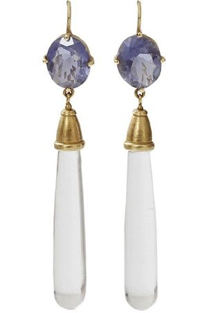 Q Jewelry Design Kvinna Örhängen - 18kt yellow gold iolite drop earrings