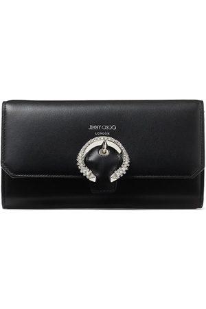Jimmy Choo Kvinna Kuvertväskor - Wallet crystal-buckle clutch bag