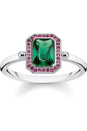 Thomas Sabo Ring Stenar röda & gröna silver