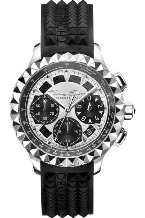 Thomas Sabo Man Klockor - Herrklocka Rebel at Heart Chronograph silver svart