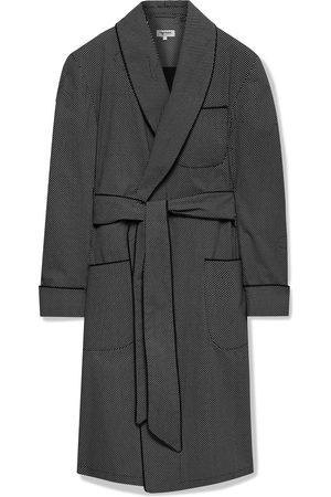 Paul Stuart Man Pyjamas - Piped Printed Cotton Robe