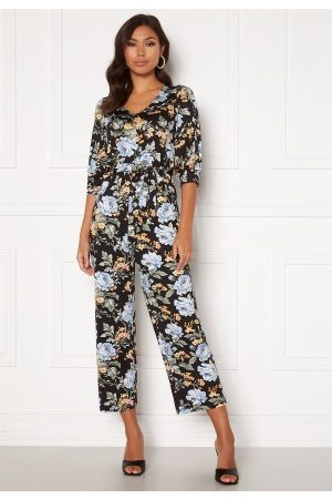 Happy Holly Tova puff v-neck jumpsuit Floral 52/54