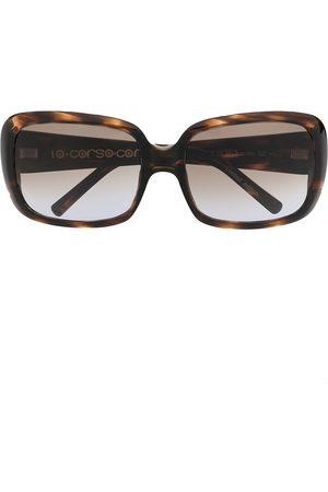 10 CORSO COMO Sköldpaddsfärgade solglasögon i oversize-modell