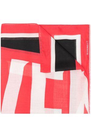 Givenchy Man Sjalar - Colour-block logo print scarf
