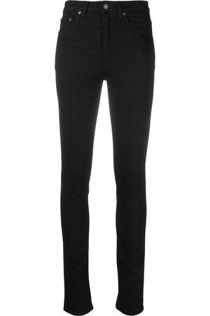 Saint Laurent Skinny-jeans med hög midja