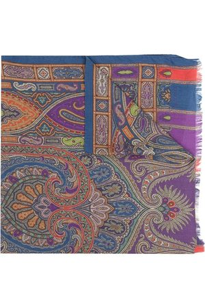 Etro Paisleymönstrad halsduk med fransar