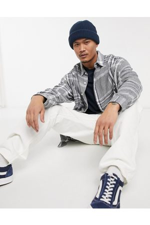 ASOS – Blå och rutig skjorta i extra oversize-modell