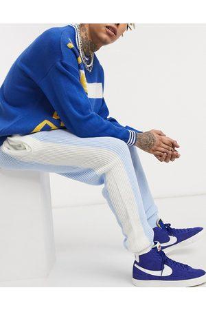 ASOS – Pastellblå stickade mjukisbyxor med sidorand, del av set