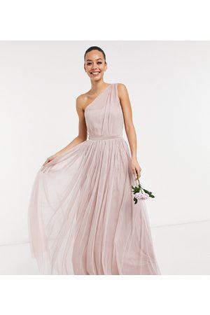 Anaya Tall Anaya With Love Tall – Brudtärnor – maxiklänning i tyll med en bar axel-Pink