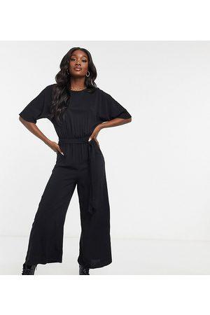 ASOS Kvinna Playsuits - ASOS DESIGN Tall – vävd jumpsuit med knytband i midjan