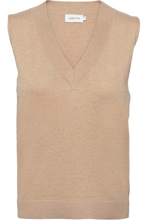 Lounge Nine Kvinna Tröjor - Lnballou Slipover Vests Knitted Vests Beige