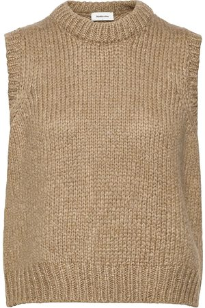 Modstrom Valentia Vest Knitwear Vests-indoor Creme