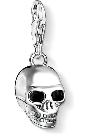 Thomas Sabo Halsband - Charm-hängsmycke dödskalle silver