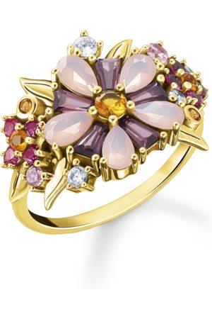 Thomas Sabo Kvinna Ringar - Ring Blommor stenar i färg guld