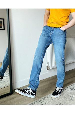 ASOS – Mellanblå slim jeans