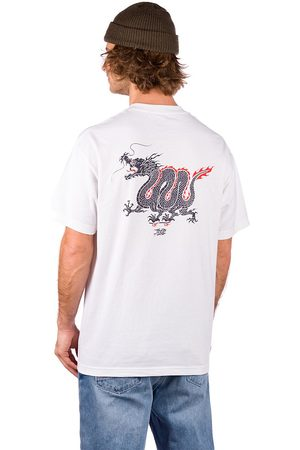 Temple of Skate Dragon T-Shirt white