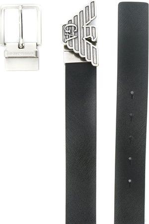 Emporio Armani Man Bälten - Skärp med logotypspänne