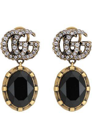 Gucci Kristallörhängen med logotyp
