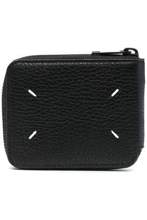 Maison Margiela Kompakt plånbok med stygndetalj