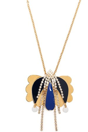 La DoubleJ Draperat halsband med blomsmycke