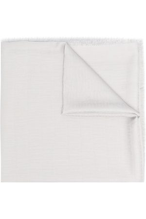 Moschino Logo-print fringed-edge scarf