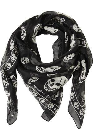Alexander McQueen Kvinna Sjalar - Classic Skull Printed Silk Chiffon Scarf
