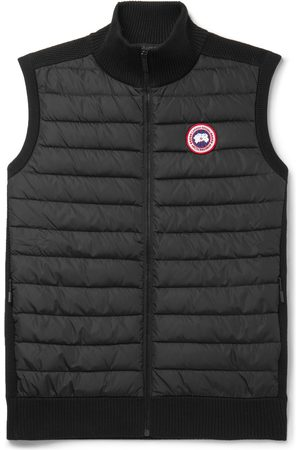 Canada Goose Man Västar - HyBridge Slim-Fit Merino Wool and Quilted Nylon Down Gilet